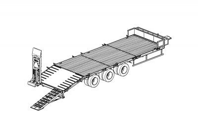 Tehnikas transportēšanas puspiekabes DINA LL